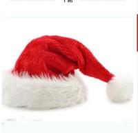Free shipping 2014 new Soft Warm wool Christmas Cap Adult Christmas Hats Santa hat (37cm) Christmas giftst
