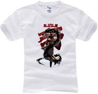 2014 summer famous basketball LeBron James slam dunk T Shirt cotton kobe t-shirt man top tee casual man short sleeve plus size