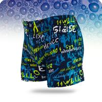 2014 NEW Real Polyester Acrylic Letter Printed swimwear men brand swimming trunks swim man shorts boxer sungasfreeshipping