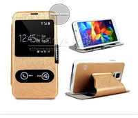 Magnetic Case For Samsung Galaxy Galaxy S5 SIV I9600,View Window Flip Leather Back Skin Cover Cases For Samsung Galaxy  S 5 1PC