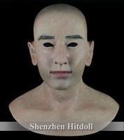 [ SF-N12] silicone masks masquerade masks human mask custom head party mask free shipping