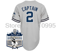 Youth Cheap New York Baseball Replica 2 Derek Jeter Captain Road Jersey w/New York Legend Final Season 1995-2014 Patch