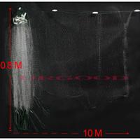 10m x 0.8m Clear White Green Monofilament Fishing Fish Gill Net w Float