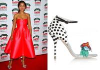 2014 suede leather ankle-strap buckle flower Sandals platform eye-catching 10cm dot high heels sandals for women