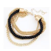 Handmade Gold Chain Braided Rope Multilayer Bracelet Bangle Chain  Freeshipping&Wholesale Alipower