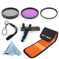 Free Shipping K&F 62MM UV CPL FLD Filter Kit  for 18-200mm f/3.5-6.3 II DC OS HSM