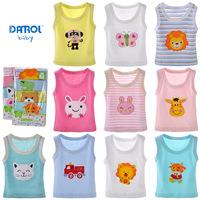 DANROL summer new cotton vest embroidered sleeveless T-shirt cartoon baby vest