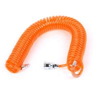 Polyurethane Pneumatic Coiled Air Hose Tube Orange 9M 29.5Ft
