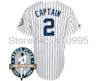 New York Baseball Youth 2 Derek Jeter Captain Jersey w/Derek Jeter Cheap Commemorative Retirement Patch