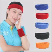 Best Head Sweat Band Sports Gym Yoga Volleyball Basketball Tennis UNISEX MENS WOMENS ,Red Blue Orange Black Wholesale
