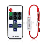 10PCS Mini 24key LED Controller single Color With Remote Control Mini Dimmer for 5050 / 3528/ 5730 Led Strip Lights 12V
