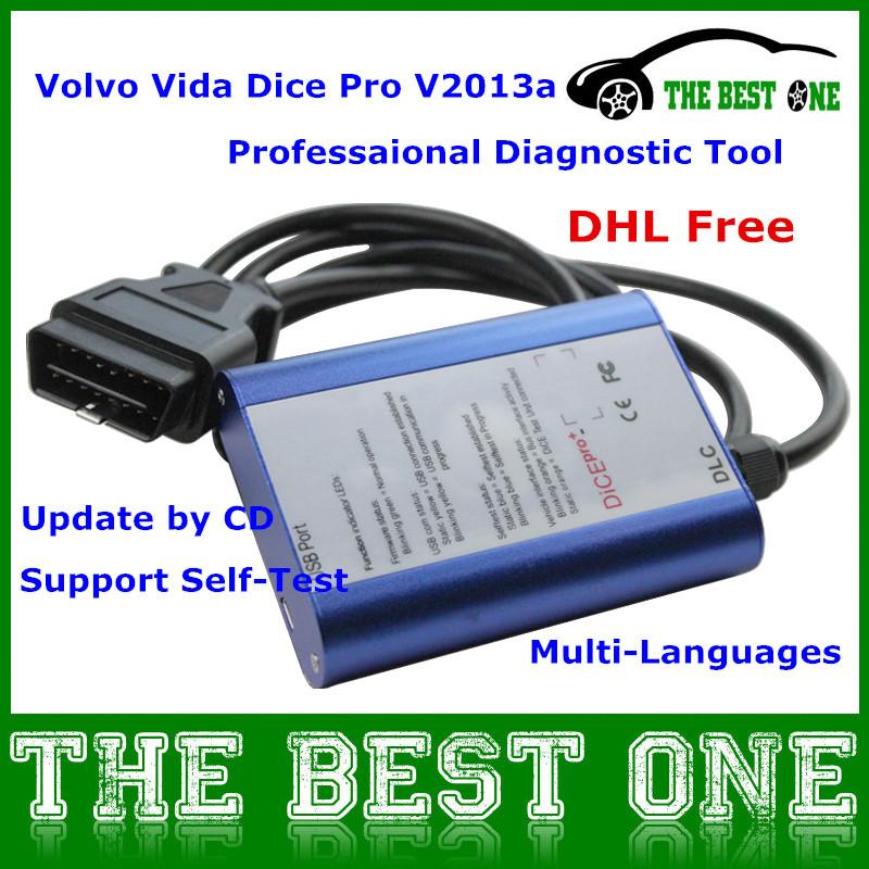 2014 Auto Diagnostic Tool Volvo Vida Dice Pro V2013a OBD2 Car Diagnostic Interface For Volvo (1996 to now) DHL Free(China (Mainland))