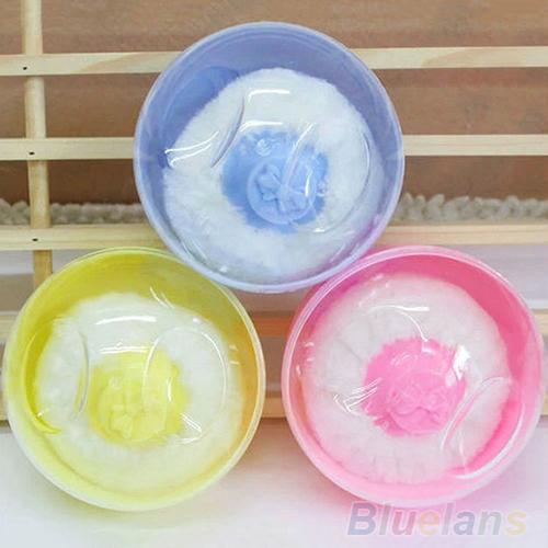 Hot Sale Baby Beauty Multicolor Cosmetic Villus Powder Puff Sponge Case Makeup Tool 0ASJ