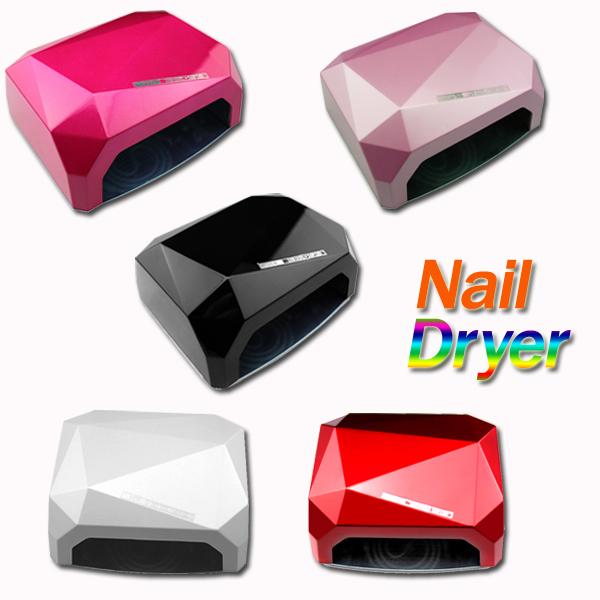 Fashion CCFL 36W LED Light Diamond Shaped Best Curing Nail Dryer Nail Art Lamp Care Machine for UV Gel Nail Polish EU Plug(China (Mainland))