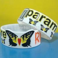 Fashion PARAMORE silicone bracelet,free shipping