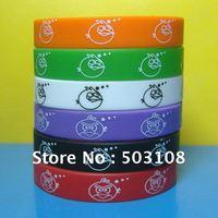 Carton Bird silicone wristband,free shipping