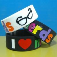 I LOVE NERDS silicone wristband