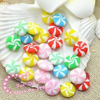 kawaii polymer clay handmade round candy  free shipping 50pcs/lot 10mm