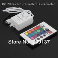 12V IR Remote Light Control 24 key RGB 6A Controller for 5050 3528 RGB LED Strip lighting Wholesale Free Shipping 50pcs/lot