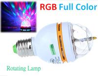 3W E27 RGB Full Color LED CRotating Stage Light DJ Lamp Light Bulb KTV Lamp L3WA17 Free Shipping