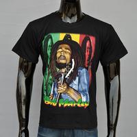 High Quality 3D 100% Cotton, Bob Marley Rock Music Genius Singer's Charm Men Leisure Short Sleeve T-Shirt, Free shipping