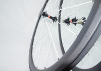 38mm*20mm White Hub 3K Matte Clincher Wheel Carbon Fiber Road Bicycle Wheel 38mm