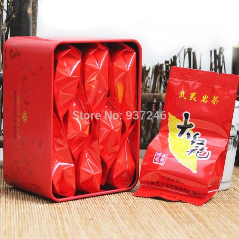 8 Pack 2015New Wuyishan Wuyi Da Hong Pao tea super mellow type charcoal roasted tea free shipping(China (Mainland))