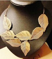 Fashion Trendy Women Bohemia Leaves Multilayer Pendant Chain Bib Choker Necklace Jewelry