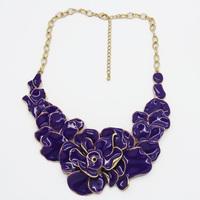 Glaze necklace flower statement necklace, chunky necklace