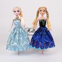 Retail 2014 Popular Frozen Doll Newest 2 Pcs Set Cute Anna Elsa Princesses Mini Baby Doll Action Figures Classic Toys
