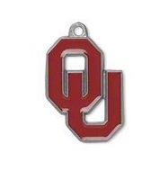 NCAA free shipping 30pcs a lot enamel antique silver single-sided Oklahoma University Sooners Big 12 charms