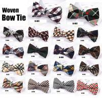 10 pcs/Lot fashion bow ties Woven bowtie Mix designs Wholesale (24 designs for choose)