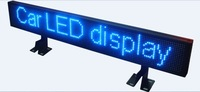 Taxi car bus Customize! 80cm P6 Blue LED scrolling sign message light display panel board advertising /support any language