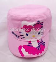 Free Shipping -  2014 kids/gilr's kitty hat, kids/girls cartoon sun hat, cute berets hat(MOQ: 1pc)