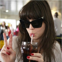 New Designer Women/Lady  Sunglasses Cat Eye Dark Lens Womens Glasses Free Shipping
