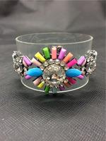 Colorful Leather bracelets & bangles statement bracelets For women 2014