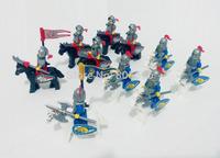 10pcs Lion and Hawk Cavalryman Minifigure compatible with lego Building Block doll,Castle Knight Brick WOMA Sluban mini figures