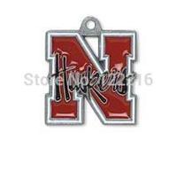 NCAA  free shipping 30pcs a lot rhodium plated enimal single-sided University of Nebraska Cornhuskers Big 12 sports charms