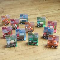 Wooden children toy car model portfolio exquisite mini series trolley 12 a breeze