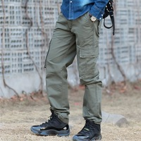 2014 male Camouflage overalls pants multi-pocket casual pants Men's leisure overalls Free shipping