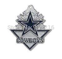 NFL  free ship 30pcs a lot rhodium plated enimal single-sided Dallas Cowboys team logo NFC football sports charms