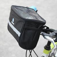 Bicycle Handlebar Bar Bag Front Frame Panniers Tube Rack Basket Pouch Black free ship