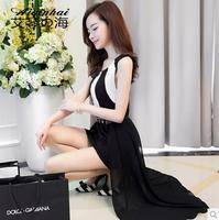 2014 summer newest women dress chiffon dress Sexy fashion Slim vest dress