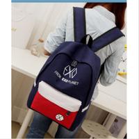 2014 new College Wind fluorescent color men and women printing backpack school bag vintage canvas campus backpack travel bag