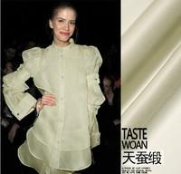100% PURE SILK gauze fabric fashion hard silk cloth one meter