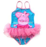 Peppa Pig Children Girls Baby Swimwear Toddler Swimsuit new One-piece Swimsuit 2-6y Tankini Bathing Bather Bikini Free shipping