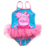 Peppa Pig Children Girls Baby Swimwear Toddler Swimsuit new One-piece Swimsuit 2-6y Tankini Bathing Bather Bikini Free shipping