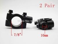 Universal Motorcycle Handle Bar Mirror Mount Holder Clamp Adaptor 7/8 Black 10MM