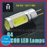 hot g4 DC 12V 7.5W Crystal Corn Bulb Chandelier Spot Light Cool/Warm White 360 degree Indoor Lighting 5pcs G4 Mini COB LED Lamps
