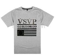 hot sell men 's ROCK hiphop loose Short-sleeved T-shirt VSVP Letter Skateboard tee shirts
